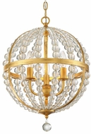 Crystorama ROX-A9003-GA Roxy Antique Gold 14  Pendant Lighting Fixture