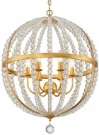 Crystorama ROX-A9006-GA Roxy Antique Gold 22  Hanging Pendant Lighting