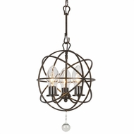 Crystorama SOL-9325-EB Solaris English Bronze Exterior Mini Chandelier Light