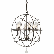 Crystorama SOL-9326-EB Solaris English Bronze Outdoor Mini Chandelier Lighting