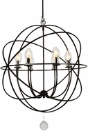 Crystorama SOL-9328-EB Solaris English Bronze Outdoor Hanging Chandelier