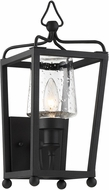Crystorama SYL-2211-SD-BF Sylvan Black Forged Outdoor Wall Light Fixture