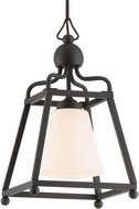 Crystorama SYL-2280-OP-BF Sylvan Black Forged Exterior Hanging Light