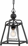 Crystorama SYL-2280-SD-BF Sylvan Black Forged Outdoor Pendant Light Fixture