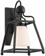 Crystorama SYL-2281-BF Sylvan Modern Black Forged Exterior Wall Lighting