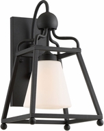 Crystorama SYL-2281-OP-BF Sylvan Black Forged Exterior Lighting Wall Sconce