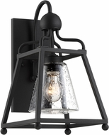 Crystorama SYL-2281-SD-BF Sylvan Black Forged Outdoor Wall Lighting Sconce