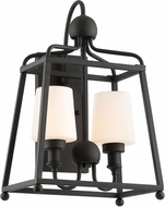 Crystorama SYL-2282-OP-BF Sylvan Black Forged Exterior Wall Sconce Lighting