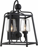 Crystorama SYL-2282-SD-BF Sylvan Black Forged Outdoor Wall Mounted Lamp