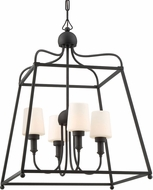 Crystorama SYL-2284-OP-BF Sylvan Black Forged Outdoor Pendant Lighting Fixture