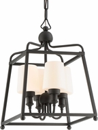 Crystorama SYL-2285-OP-BF Sylvan Black Forged Outdoor Hanging Pendant Light