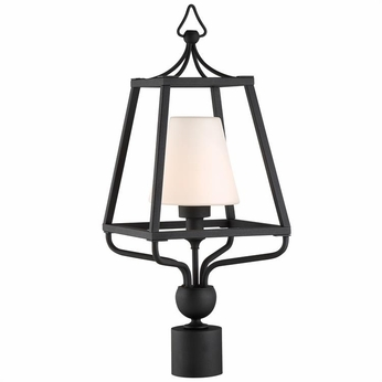 Crystorama SYL-2287-BF Sylvan Contemporary Black Forged Outdoor Post Light Fixture