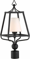 Crystorama SYL-2287-OP-BF Sylvan Black Forged Outdoor Lighting Post Light