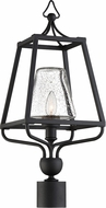 Crystorama SYL-2287-SD-BF Sylvan Black Forged Exterior Post Light Fixture
