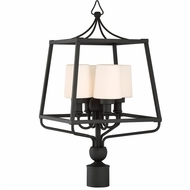 Crystorama SYL-2289-BF Sylvan Modern Black Forged Exterior Post Lighting Fixture