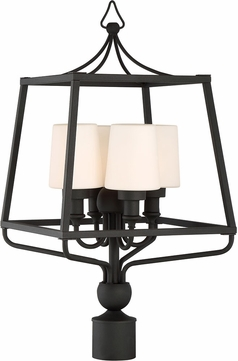 Crystorama SYL-2289-OP-BF Sylvan Black Forged Outdoor Post Lighting Fixture