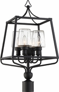 Crystorama SYL-2289-SD-BF Sylvan Black Forged Exterior Lamp Post Light Fixture
