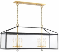 Crystorama WES-9909-BK-GA Weston Black and Antique Gold Kitchen Island Light Fixture
