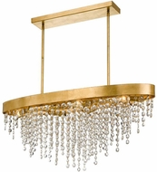 Crystorama WIN-619-GA-CL-MWP Winham Antique Gold Kitchen Island Lighting