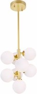 CWI 1020P12-8--602 Arya Contemporary Satin Gold LED Pendant Light