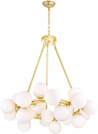 CWI 1020P26-25-602 Arya Contemporary Satin Gold LED Chandelier Lighting