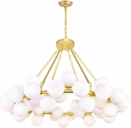 CWI 1020P39-45-602 Arya Contemporary Satin Gold LED Lighting Chandelier
