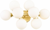 CWI 1020W18-8-602 Arya Contemporary Satin Gold LED Wall Sconce