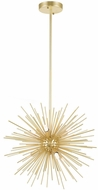 CWI 1034P16-6-620 Savannah Modern Gold Leaf Halogen 16  Hanging Pendant Lighting