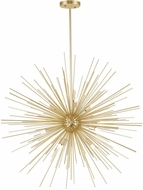 CWI 1034P30-9-620 Savannah Contemporary Gold Leaf Halogen 30  Hanging Pendant Light