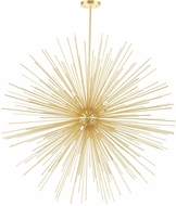 CWI 1034P40-14-620 Savannah Modern Gold Leaf Halogen 40  Pendant Hanging Light