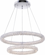CWI 1042P25-601-2R Arielle Chrome LED Hanging Lamp