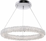 CWI 1042P25-601-R Arielle Chrome LED Hanging Light