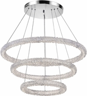 CWI 1042P32-601-3R Arielle Chrome LED Pendant Light Fixture