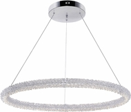 CWI 1042P32-601-R Arielle Chrome LED Pendant Lighting Fixture