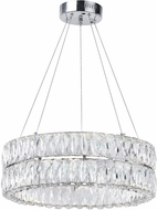 CWI 1044P20-601-R-2C Madeline Chrome LED Hanging Pendant Light