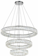 CWI 1044P32-601-R-3C Madeline Chrome LED Drop Ceiling Lighting