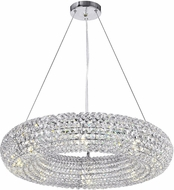 CWI 1057P24-8-601 Veronique Chrome Halogen 24  Pendant Light Fixture
