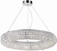 CWI 1057P32-12-601 Veronique Chrome Halogen 32  Pendant Lighting Fixture