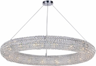 CWI 1057P40-16-601 Veronique Chrome Halogen 40  Hanging Pendant Lighting