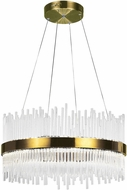 CWI 1063P24-605 Genevieve Antique Brass LED 24  Pendant Hanging Light