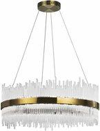 CWI 1063P32-605 Genevieve Antique Brass LED 32  Hanging Light Fixture
