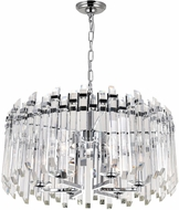 CWI 1065P24-6-601 Henrietta Chrome 24  Drop Ceiling Lighting