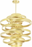 CWI 1068P18-6-620 Elizabetta Modern Gold Leaf 18  Ceiling Pendant Light