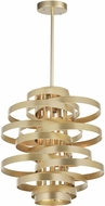 CWI 1068P28-7-620 Elizabetta Contemporary Gold Leaf 28  Drop Ceiling Light Fixture