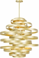 CWI 1068P45-16-620 Elizabetta Contemporary Gold Leaf 45  Drop Lighting Fixture