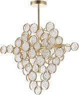 CWI 1087P20-7-620 Anastasia Gold Leaf Halogen Pendant Lighting