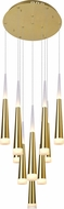 CWI 1103P16-10-619 Andes Contemporary Gold Leaf LED Multi Hanging Lamp