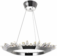 CWI 1108P24-613 Arctic Queen Polished Nickel LED Hanging Light Fixture