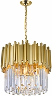 CWI 1112P16-4-169 Deco Medallion Gold 16  Ceiling Light Pendant