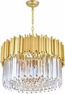 CWI 1112P24-7-169 Deco Medallion Gold 24  Ceiling Pendant Light